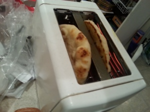 naan in toaster